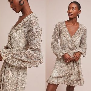 Anthropologie x Ranna Gill Ruffled Leopard Dress